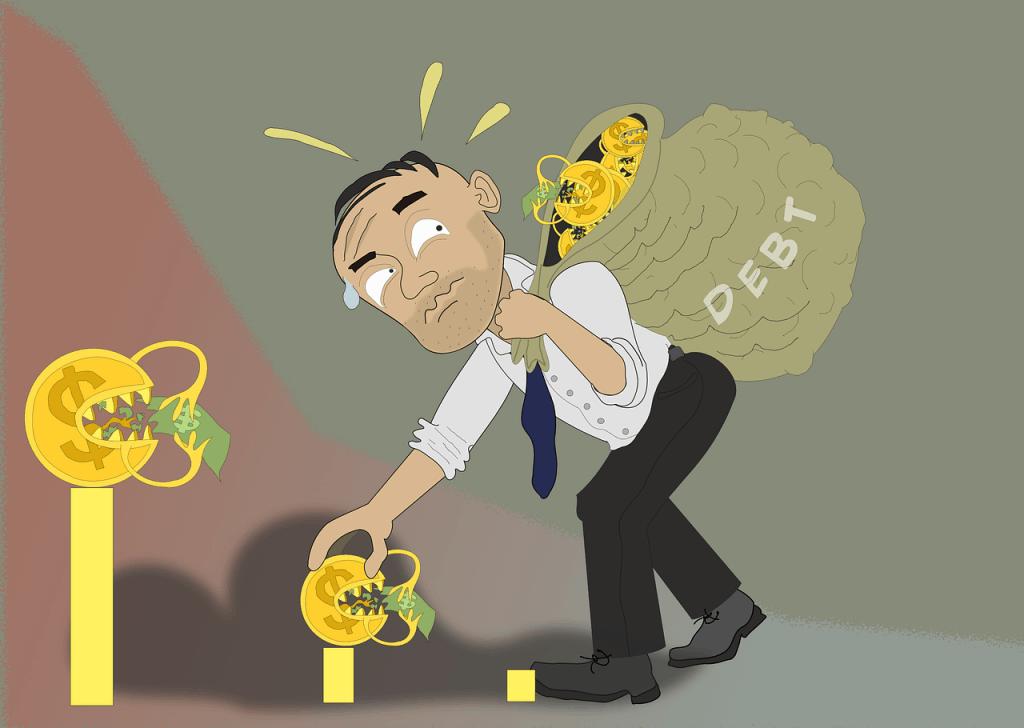 איש אוסף בשק חובות